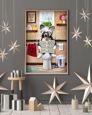 CHINESE CRESTED PUPPY SITTING ON THE TOILET 11x17 Poster lifestyle-holiday-poster-1