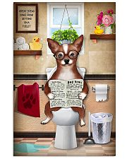 CHIHUAHUA PUPPY SITTING ON A TOILET 11x17 Poster front