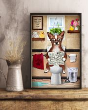 CHIHUAHUA PUPPY SITTING ON A TOILET 11x17 Poster lifestyle-poster-3