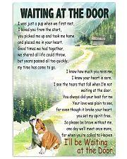 BULLDOG WAITING AT THE DOOR 11x17 Poster front