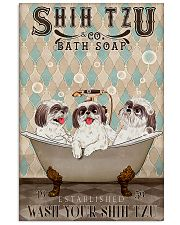 SHIH TZU WASH YOUR PAWS 11x17 Poster front