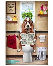BASSET HOUND PUPPY ON THE TOILET 11x17 Poster front