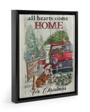 BULLDOG COME HOME FOR CHRISTMAS Floating Framed Canvas Prints Black tile