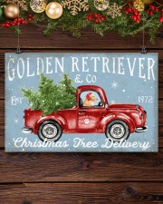 GOLDEN RETRIEVER DOG RED TRUCK CHRISTMAS 17x11 Poster aos-poster-landscape-17x11-lifestyle-27