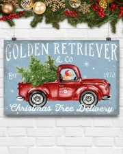 GOLDEN RETRIEVER DOG RED TRUCK CHRISTMAS 17x11 Poster aos-poster-landscape-17x11-lifestyle-28