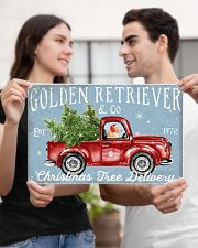 GOLDEN RETRIEVER DOG RED TRUCK CHRISTMAS 17x11 Poster poster-landscape-17x11-lifestyle-20