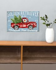 GOLDEN RETRIEVER DOG RED TRUCK CHRISTMAS 17x11 Poster poster-landscape-17x11-lifestyle-24