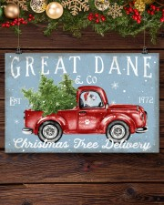 GREAT DANE DOG RED TRUCK CHRISTMAS 17x11 Poster aos-poster-landscape-17x11-lifestyle-27