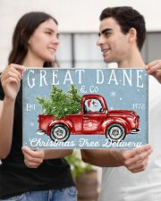 GREAT DANE DOG RED TRUCK CHRISTMAS 17x11 Poster poster-landscape-17x11-lifestyle-20