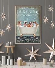 FUNNY BULLDOG PUPPY SITTING ON BATH TUB 11x17 Poster lifestyle-holiday-poster-1