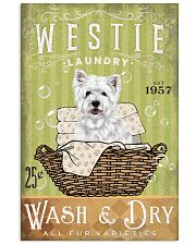 WEST HIGHLAND WHITE TERRIER LAUNDRY ROOM 11x17 Poster front
