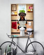 FUNNY DOBERMAN PUPPY SITTING ON A TOILET 11x17 Poster lifestyle-poster-7