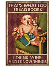 LABRADOR DOG READ BOOK DRINK AND KNOW THINGS 11x17 Poster front