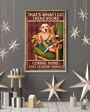 LABRADOR DOG READ BOOK DRINK AND KNOW THINGS 11x17 Poster lifestyle-holiday-poster-1