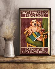 LABRADOR DOG READ BOOK DRINK AND KNOW THINGS 11x17 Poster lifestyle-poster-3