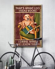 LABRADOR DOG READ BOOK DRINK AND KNOW THINGS 11x17 Poster lifestyle-poster-7