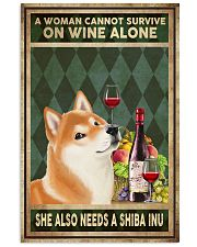 WOMAN ALSO NEEDS A SHIBA INU 11x17 Poster front