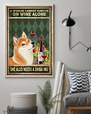 WOMAN ALSO NEEDS A SHIBA INU 11x17 Poster lifestyle-poster-1