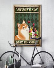 WOMAN ALSO NEEDS A SHIBA INU 11x17 Poster lifestyle-poster-7