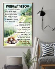 ENGLISH BULLDOG WAITTING AT THE DOOR 11x17 Poster lifestyle-poster-1
