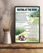 ENGLISH BULLDOG WAITTING AT THE DOOR 11x17 Poster lifestyle-poster-3