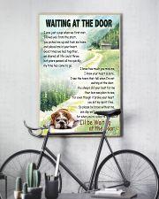 ENGLISH BULLDOG WAITTING AT THE DOOR 11x17 Poster lifestyle-poster-7