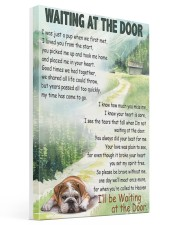 ENGLISH BULLDOG WAITTING AT THE DOOR Gallery Wrapped Canvas Prints tile