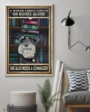 WOMAN ALSO NEEDS SCHNAUZER 11x17 Poster lifestyle-poster-1