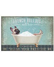 FRENCHIE DOG TAKE A BATH SOAP 17x11 Poster front