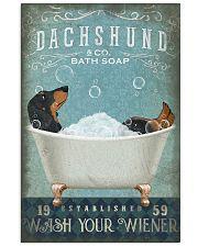 DACHSHUND DOG WASH YOUR WIENER 11x17 Poster front