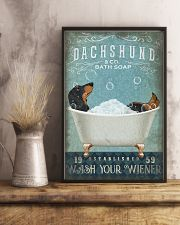 DACHSHUND DOG WASH YOUR WIENER 11x17 Poster lifestyle-poster-3