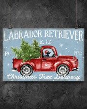 BLACK LABRADOR DOG RED TRUCK CHRISTMAS 17x11 Poster aos-poster-landscape-17x11-lifestyle-12