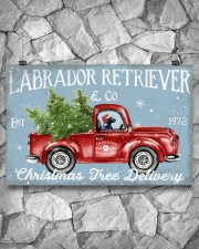 BLACK LABRADOR DOG RED TRUCK CHRISTMAS 17x11 Poster aos-poster-landscape-17x11-lifestyle-13