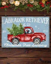 BLACK LABRADOR DOG RED TRUCK CHRISTMAS 17x11 Poster aos-poster-landscape-17x11-lifestyle-27