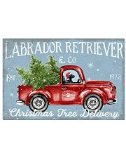 BLACK LABRADOR DOG RED TRUCK CHRISTMAS 17x11 Poster front