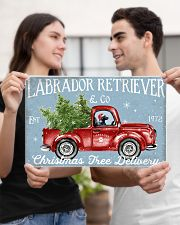 BLACK LABRADOR DOG RED TRUCK CHRISTMAS 17x11 Poster poster-landscape-17x11-lifestyle-20