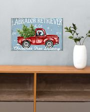 BLACK LABRADOR DOG RED TRUCK CHRISTMAS 17x11 Poster poster-landscape-17x11-lifestyle-24