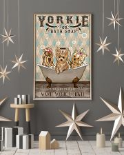 YORKSHIRE TERRIER PUPPIES ON BATH TUB 11x17 Poster lifestyle-holiday-poster-1