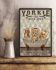 YORKSHIRE TERRIER PUPPIES ON BATH TUB 11x17 Poster lifestyle-poster-3
