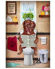 DOGUE DE BORDEAUX DOG SITTING ON A TOILET 11x17 Poster front