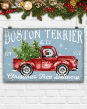 BOSTON TERRIER DOG RED TRUCK CHRISTMAS 17x11 Poster aos-poster-landscape-17x11-lifestyle-28