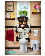 ROTTWEILER PUPPY SITTING ON A TOILET 11x17 Poster front