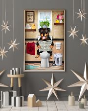 ROTTWEILER PUPPY SITTING ON A TOILET 11x17 Poster lifestyle-holiday-poster-1