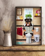 ROTTWEILER PUPPY SITTING ON A TOILET 11x17 Poster lifestyle-poster-3