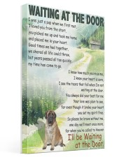 ENGLISH MASTIFF DOG WAITTING AT THE DOOR Gallery Wrapped Canvas Prints tile