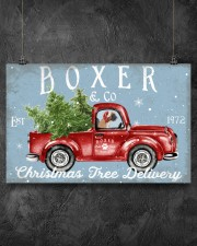 BOXER DOG RED TRUCK CHRISTMAS 17x11 Poster aos-poster-landscape-17x11-lifestyle-12