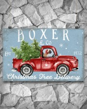 BOXER DOG RED TRUCK CHRISTMAS 17x11 Poster aos-poster-landscape-17x11-lifestyle-13