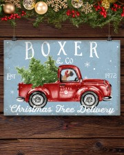 BOXER DOG RED TRUCK CHRISTMAS 17x11 Poster aos-poster-landscape-17x11-lifestyle-27