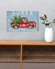 BOXER DOG RED TRUCK CHRISTMAS 17x11 Poster poster-landscape-17x11-lifestyle-24