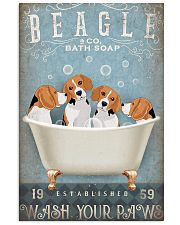 BEAGLE PUPPIES SITTING ON BATH SOAP 11x17 Poster front